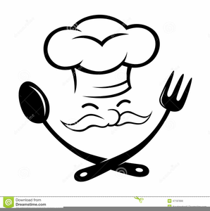 Free Black And White Chef Clipart.