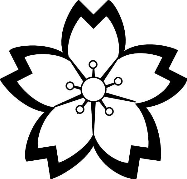 This coloring page for kids features a black and white cherry.