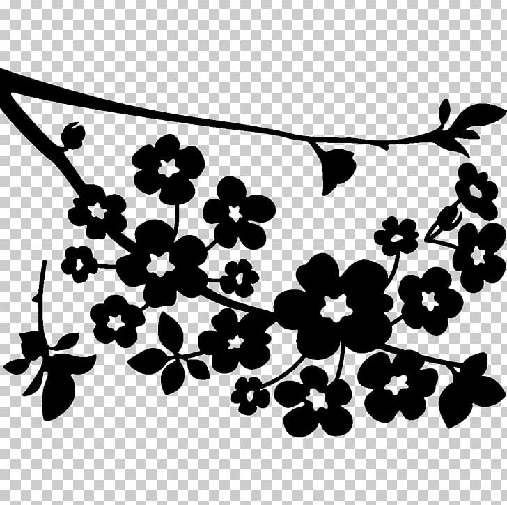 Cherry Blossom Paper Coloring Book PNG, Clipart, Black.