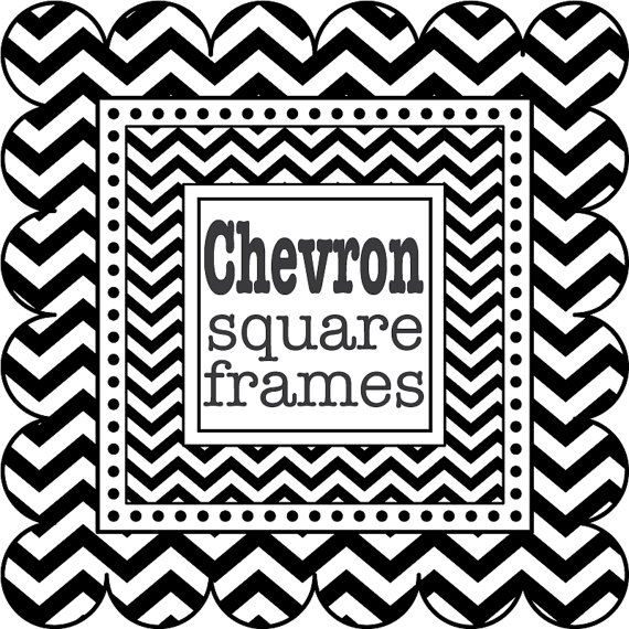 Black and white chevron clipart.