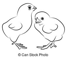 Chicks clipart black and white 2 » Clipart Station.