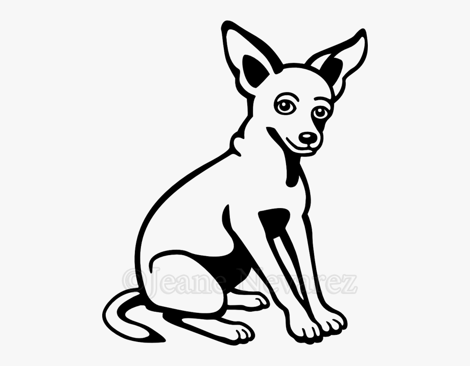 Dog Clipart Black And White Chihuahua.