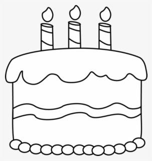 Free Birthday Cake Black And White Clip Art with No.