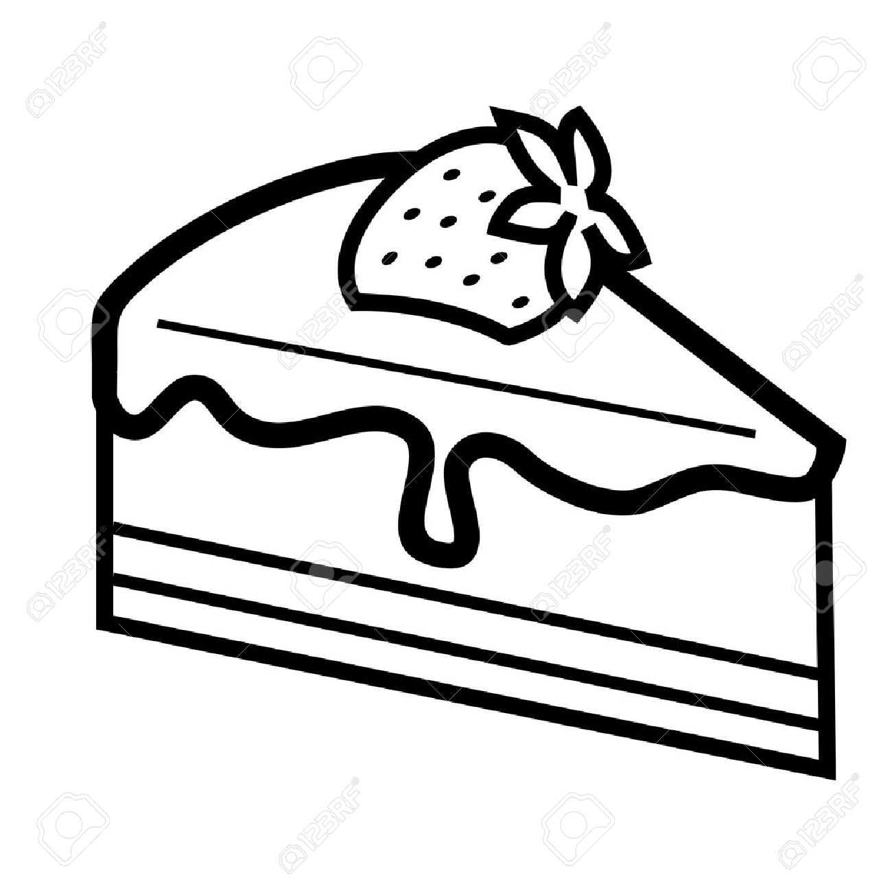 Cake Clip Art Black And White Group (+), HD Clipart.