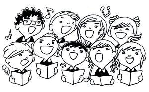 Chorus clipart choral reading, Chorus choral reading.