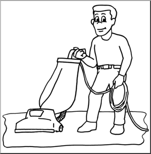 Chores Clipart Black And White.
