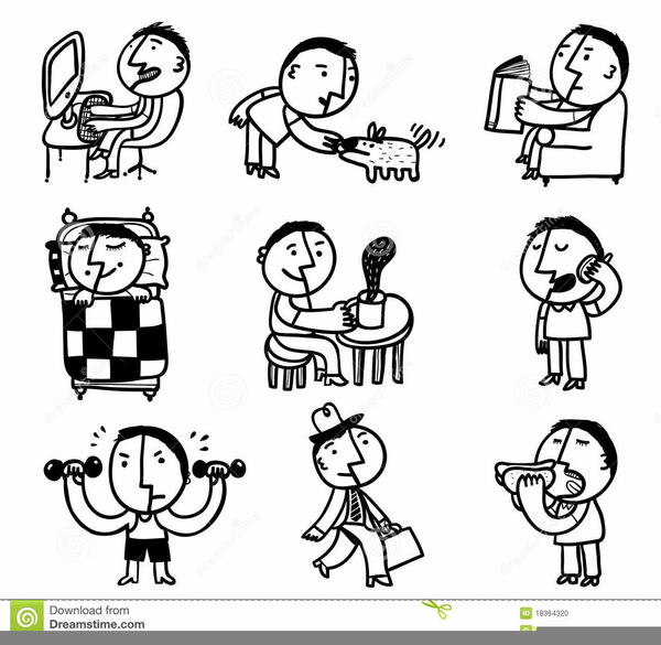 Chore Clipart Black And White.