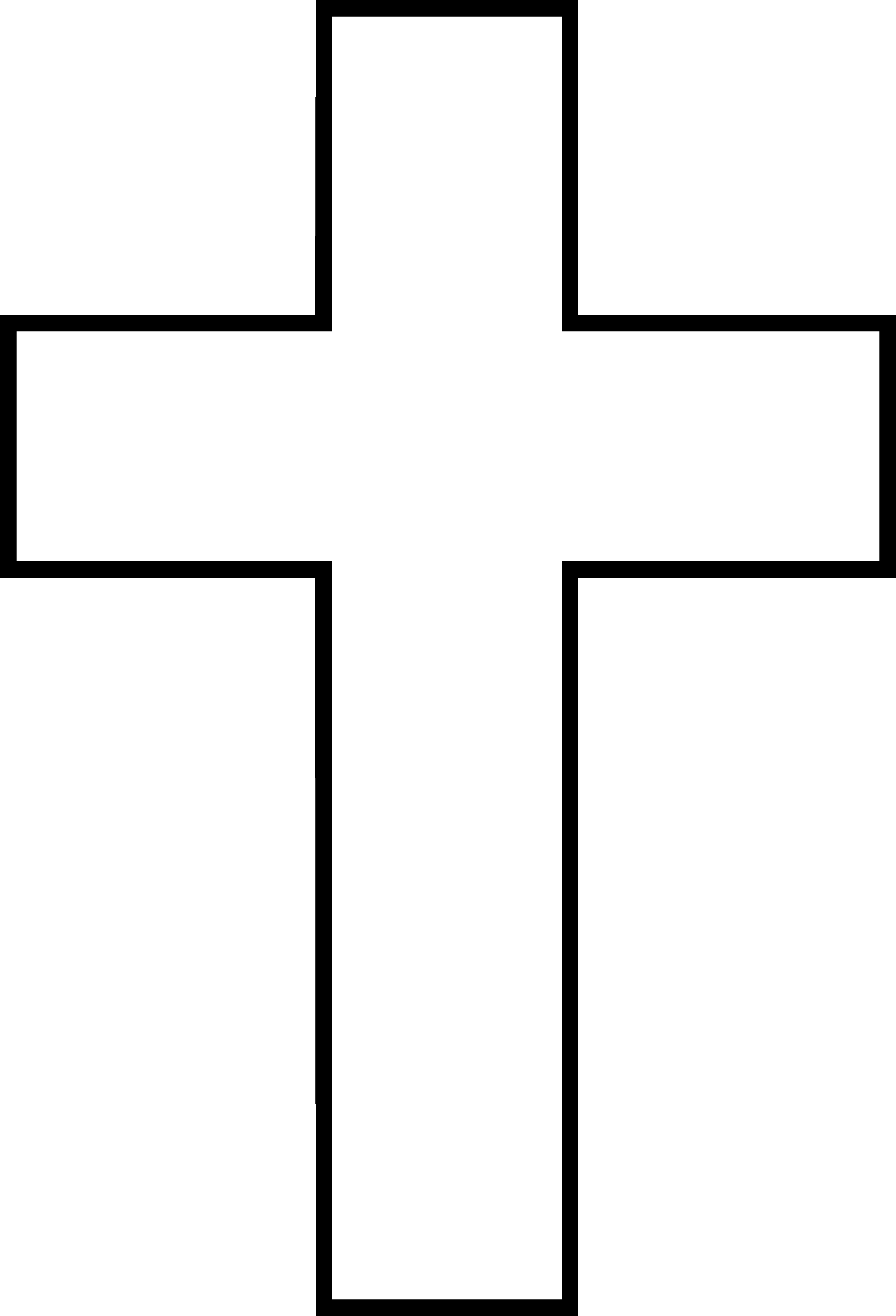 Free Cross Clipart Black And White.