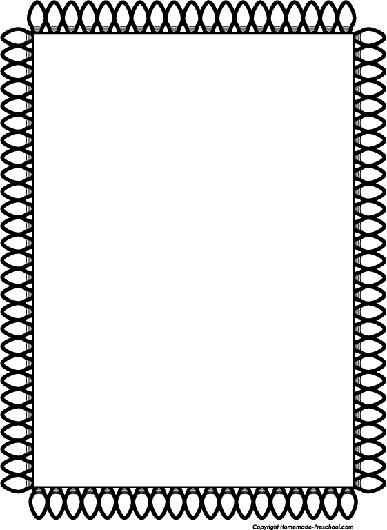 Free Black And White Christmas Borders, Download Free Clip.
