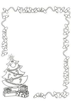 Black And White Christmas Borders Free Download Clip Art.