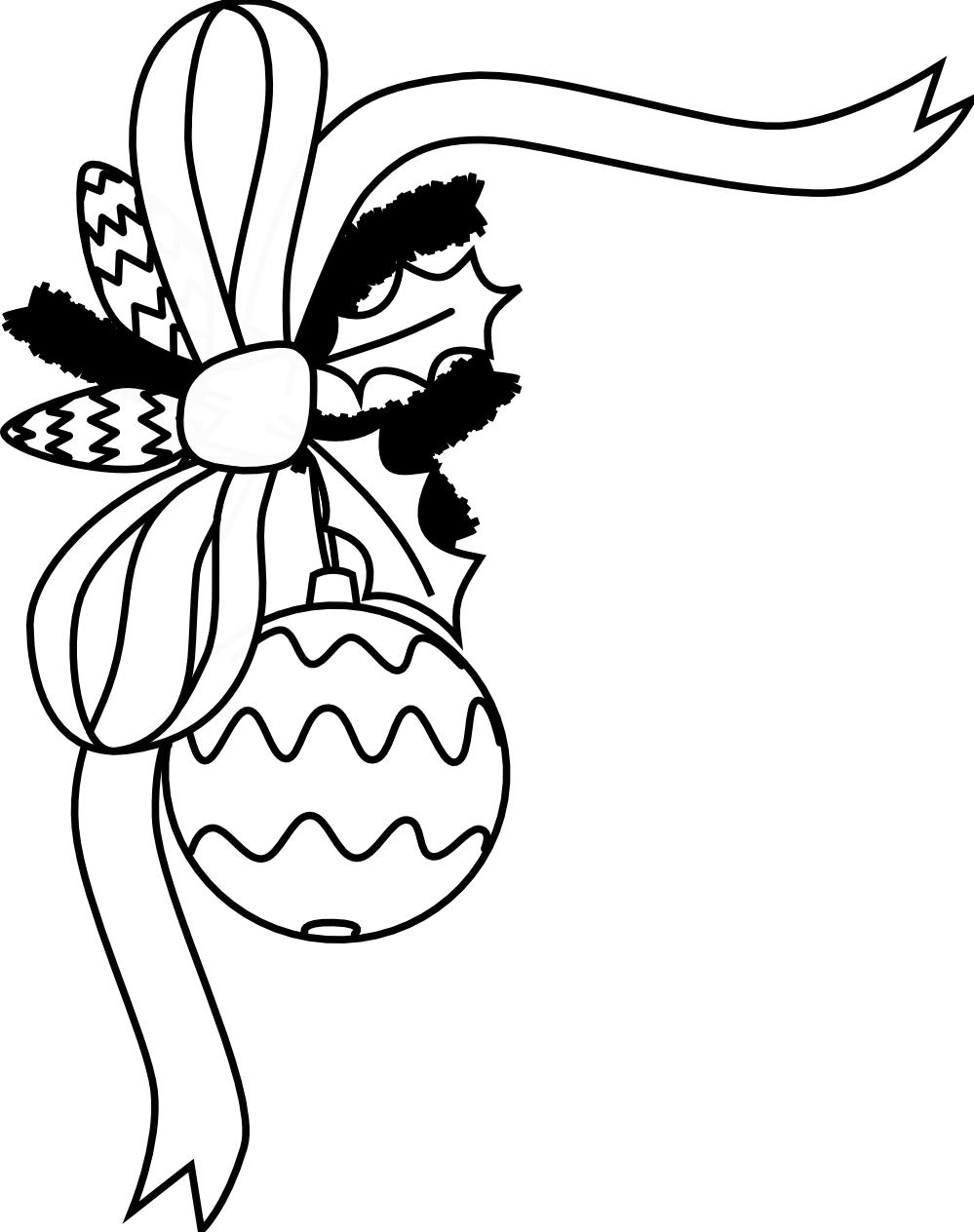Free Black And White Christmas Clipart.