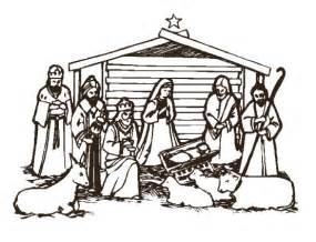 Similiar Nativity Clip Art Black And White Keywords.