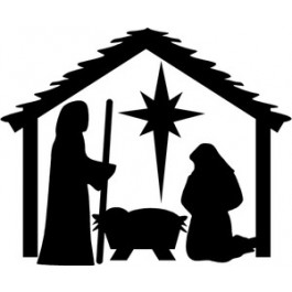 Black Nativity Scene Clipart.