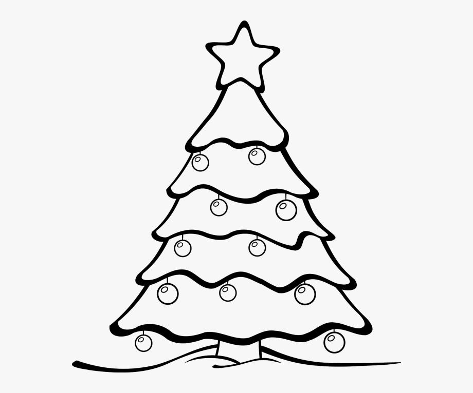 Christmas Tree Black And White Christmas Tree Clipart.