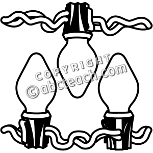 Christmas Lights Clipart Black And White.