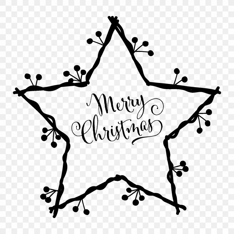 White Christmas Star Of Bethlehem Christmas Card Clip Art.