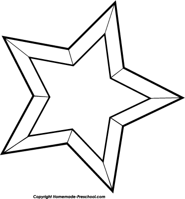 Star Black And White Christmas Clipart.
