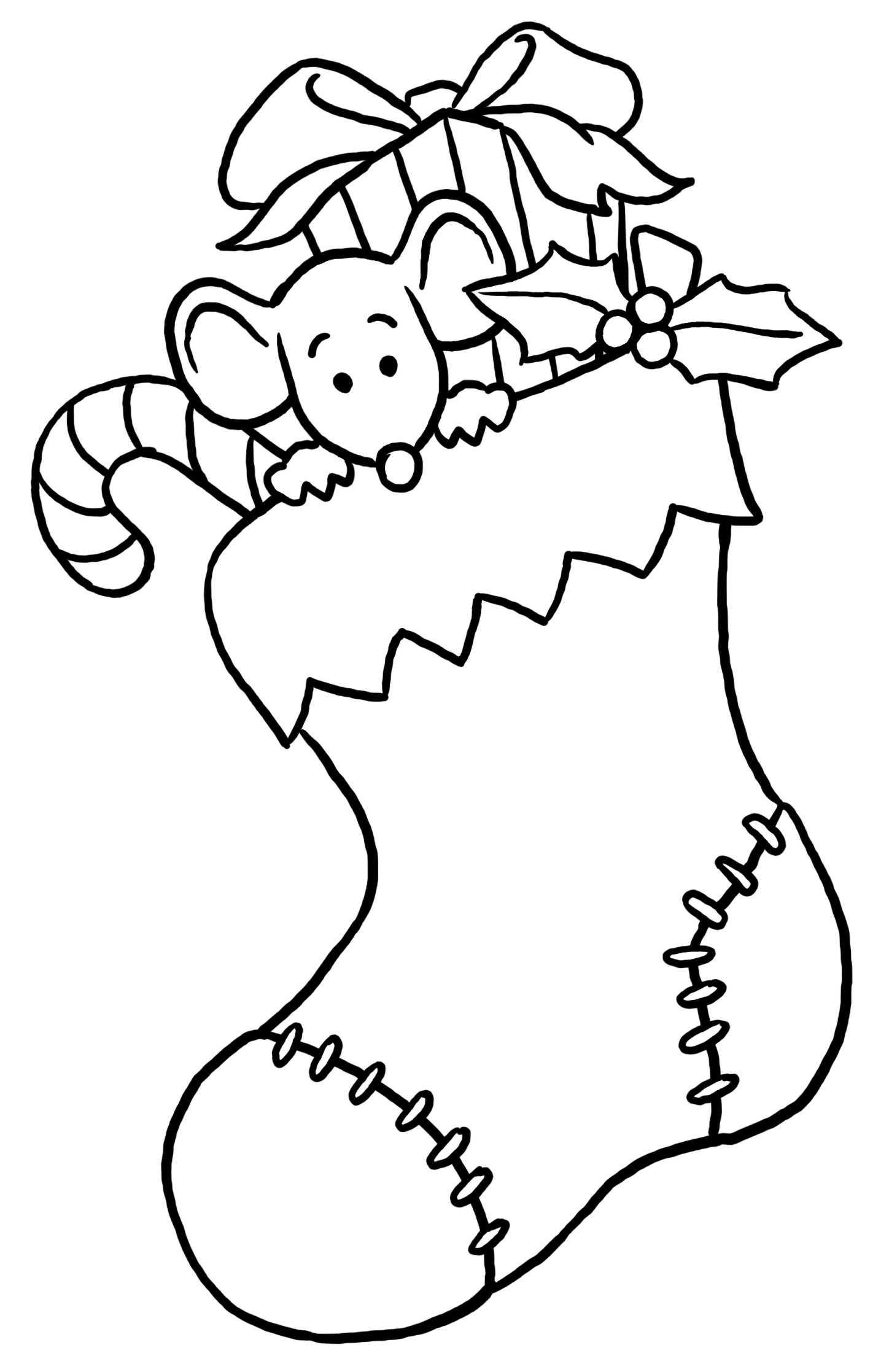 Christmas stocking clipart black and white 3 » Clipart Station.