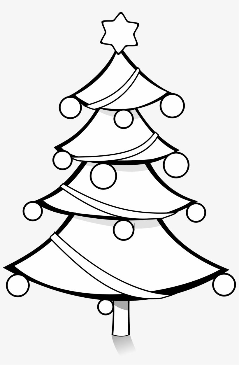 Christmas Tree Clip Art Black And White.