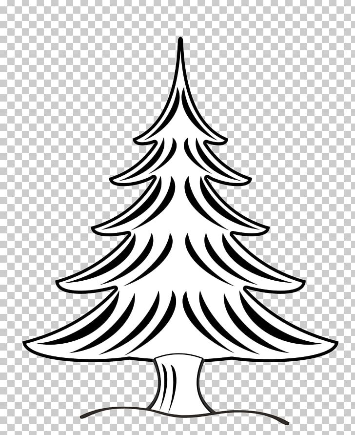 Christmas Tree Black And White Santa Claus PNG, Clipart, Art, Black.
