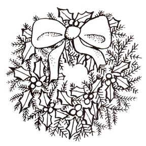 Christmas wreath clipart black and white 1 » Clipart Station.