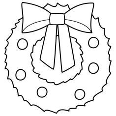 Black and white christmas wreath clipart 2 » Clipart Portal.