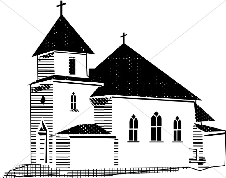 Church clipart black and white 5 » Clipart Station.