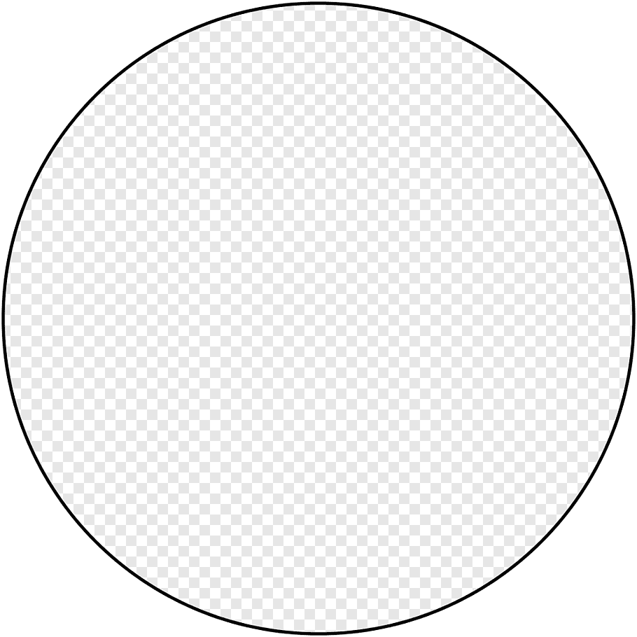 Round black, Circle Area Angle Point Black and white, Circle.