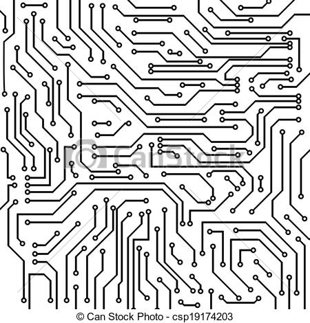 Vector Clipart of Circuit board vector background.
