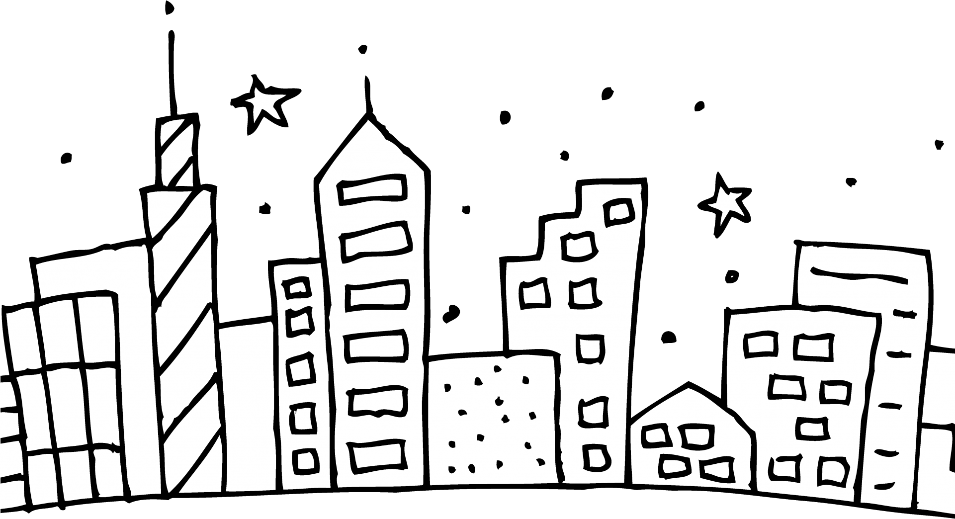 Chicago Skyline Coloring Page Cubs Pages At Getcolorings.