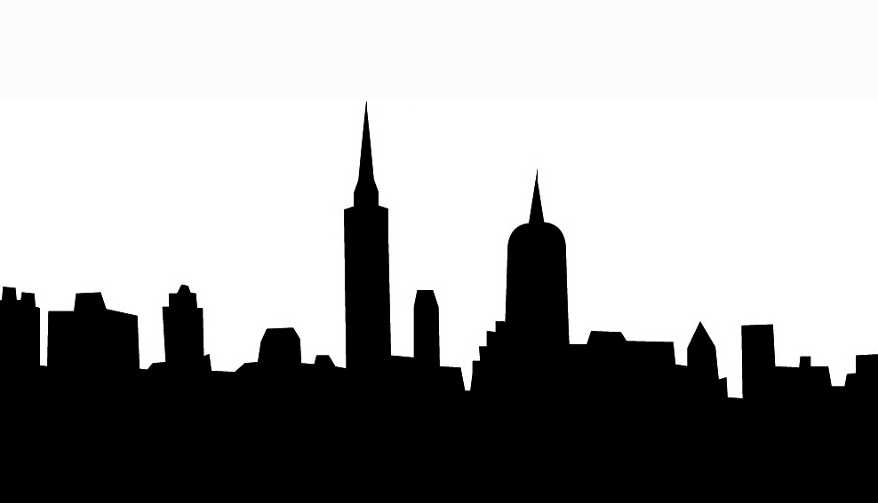 City Background Black And White Clipart.