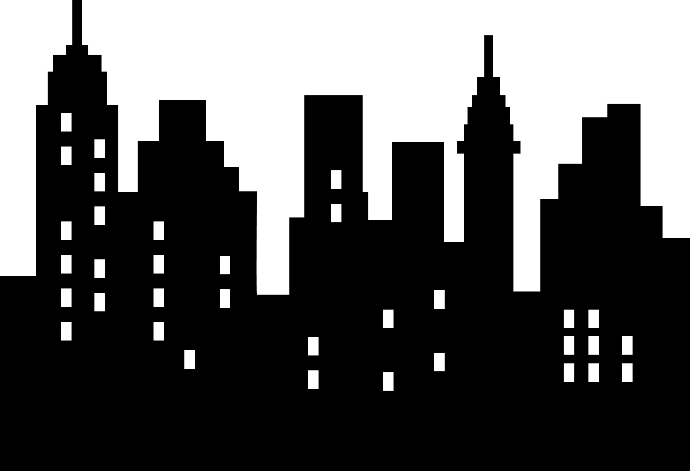 City Clipart Black And White Png.