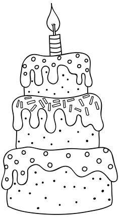 Birthday cake black and white clipart 6 » Clipart Portal.