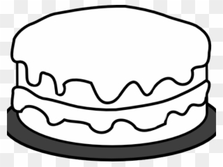 Free PNG Cake Black And White Clip Art Download.