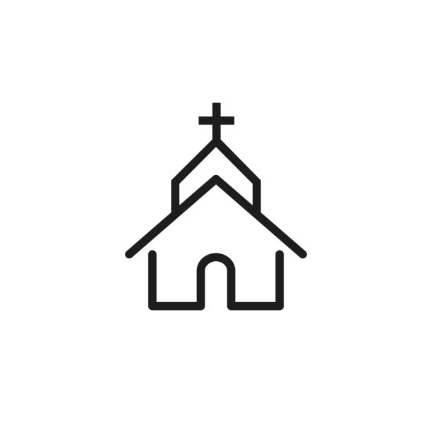 Best Churches Illustrations, Royalty.