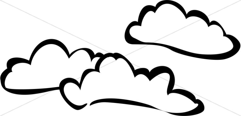 Clouds Clipart Black And White.