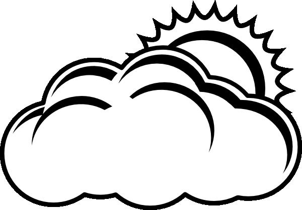 Sun black and white sun and clouds clipart black white.