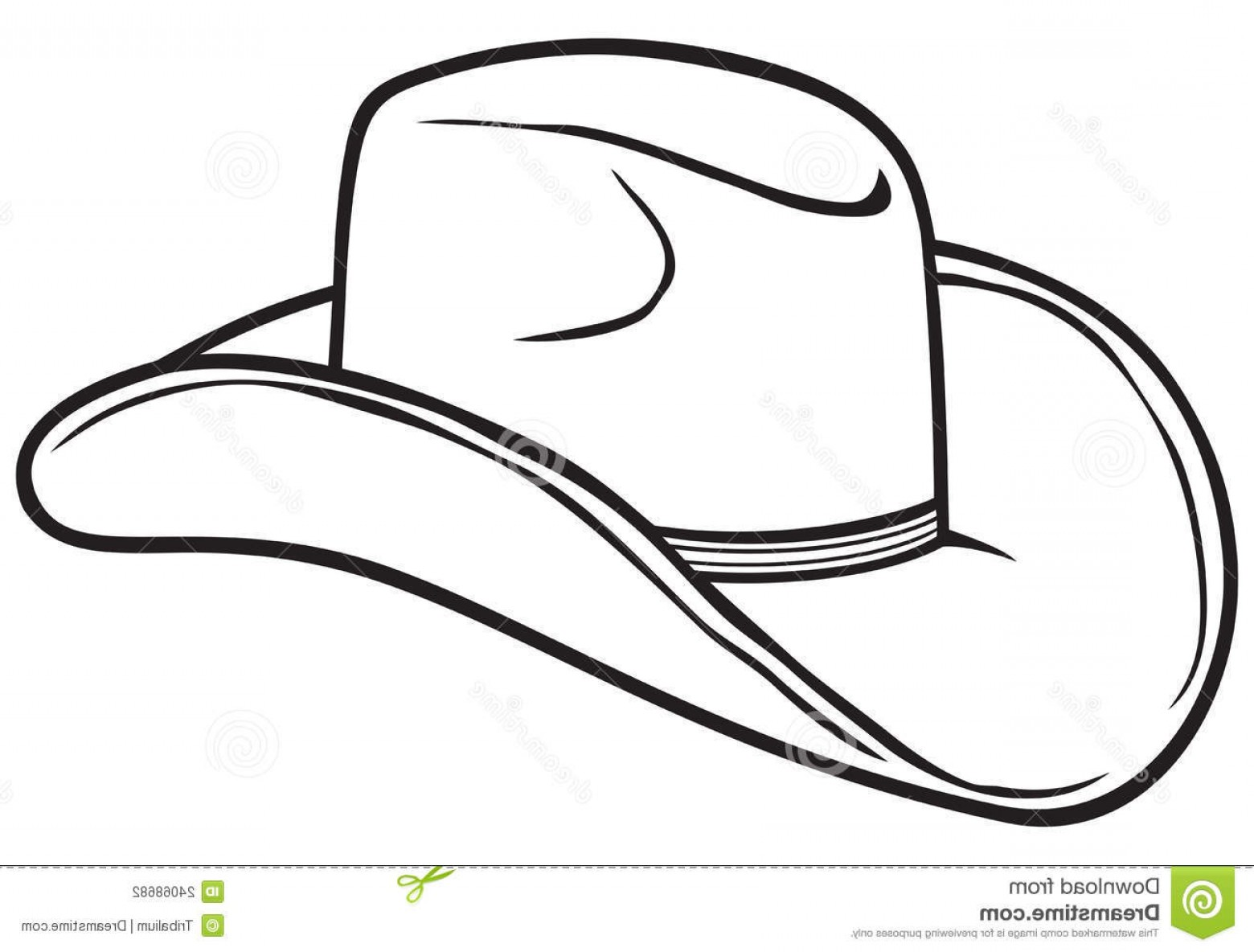 Hat black and white clipart 7 » Clipart Station.