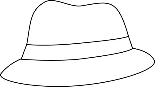 hat clip art black and white.
