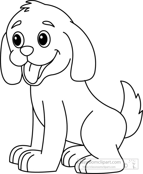 Dog Black And White Clipart.