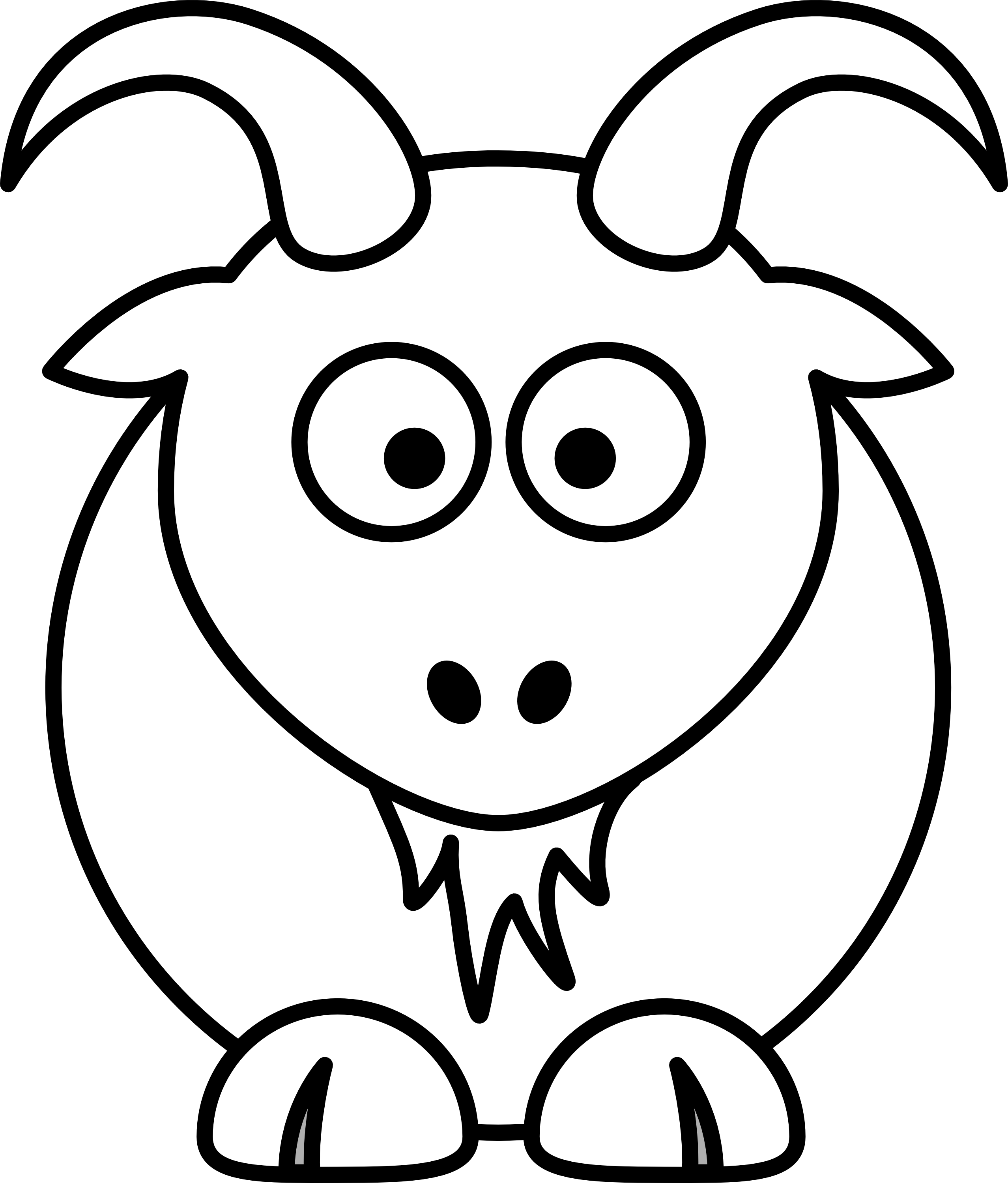 Goat clip art black and white.
