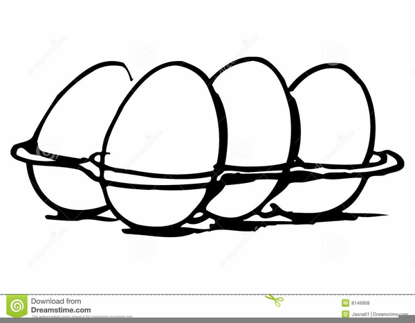 Eggs Clipart Black And White.