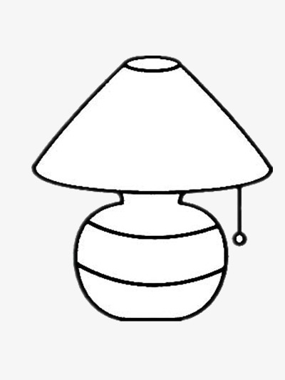 Lamp black and white clipart 4 » Clipart Station.