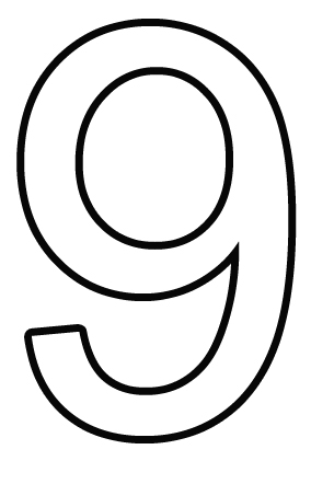 Free Number 9 Cliparts Black, Download Free Clip Art, Free.