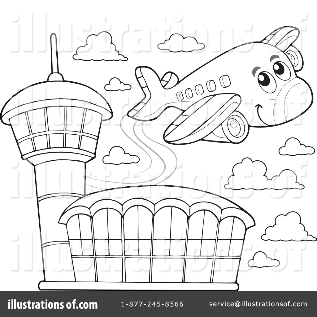 Airport clipart black and white 7 » Clipart Station.