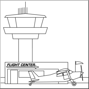 1539 Airport free clipart.