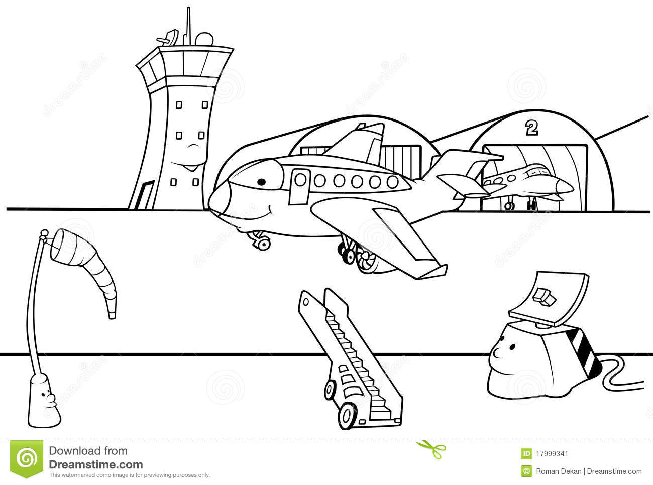 Airport Clipart Black And White.