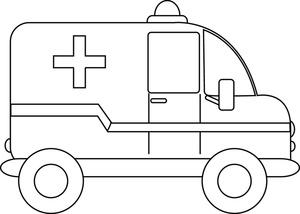 Ambulance Clipart Black And White.