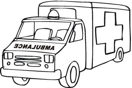 Ambulance Clipart Black And White 6.