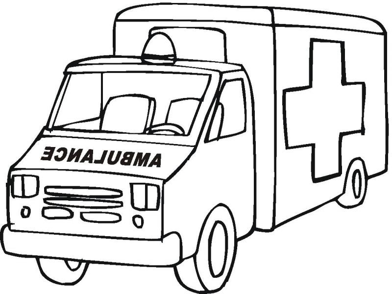 Ambulance clipart black and white, Ambulance black and white.
